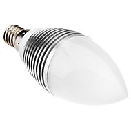 E14 3W 6x5630smd 240lm 3500K blanc chaud ampoule menée de bougie (110-220V)