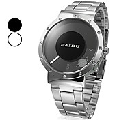 Unisex Silver Steel Quartz Analog Wrist Watch (Assorted Colors) Cool Watch Unique Watch