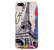 Vintage Eiffel Tower Flower Pattern Hard Case for iPhone 5/5S