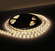 Impermeable los 5M 18W 300x3528 SMD Warm White Light LED Strip Lámpara (12V, IP44)