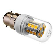 b22 24x5050smd 4w 280lm 3000-3500K luz blanca cálida bombilla LED de maíz (85-265v)