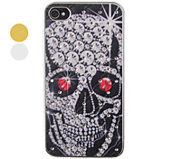 Red Eye Skulls Pattern Zircon Back Case for iPhone 4/4S(Assorted Color)