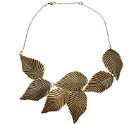 Temperament Restoring Ancient Ways Leaves Pattern Leaves Short Necklace