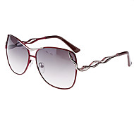 Women's Gray Lens Fuchsia Frame UV400 Protection Butterfly Sunglasses