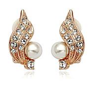 Earring Stud Earrings Jewelry Women Daily Pearl / Alloy Gold