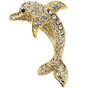 3D Dolphin Chrome Car Logo/ Symbol/ Mark/ Signs Universal Sticker Rhinestone
