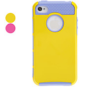 Shells Doble Design Case Purple TPU Inner Shell duro para el iPhone 4/4S (colores surtidos)
