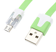 LED Gleamy USB Data Cable for Samsung Mobile Phone (Assorted Colors)