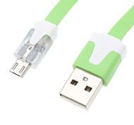 LED Gleamy Cable de datos USB para teléfono móvil de Samsung (varios colores)