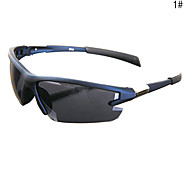 Unisex UV400 Plastic Semi-Rimless Sports Sunglasses