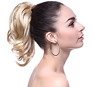 Top Grade Synthetic Short Blonde Wavy Ponytail