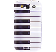 Matte Style Piano Key Pattern Durable Hard Case for Samsung Galaxy S3 I9300
