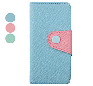 Double Color Inside and Outside PU Leather Full Body Case for iPhone 5/5S(Assorted Color)