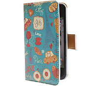 Cute Daily Use Pattern PU Full Body Case with Card Slot and PC Back Cover insight for iPhone 4/4S