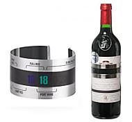 creativa de acero inoxidable pulsera de vino tinto temperatura del termómetro de herramientas de la barra de cerveza en casa