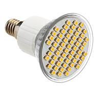 E14 3.5W 60x3528SMD 180-240LM 3000-3500K calientan la luz blanca LED del bulbo del punto (85-265V)