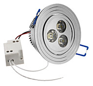 3W 240-270LM 6000-6500K Natural White Light LED Ceiling Bulb (85-265V)