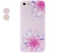 Blooming Crystal Flower Pattern Transparent Frame PC Hard Case for iPhone 5/5S (Assorted Colors)