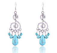 Europestyle Vintage Turqoise Music Symbol Pendant Earrings