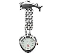 Unisex Alloy Analog Quartz Pocket Watch (Silver)