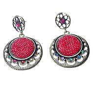Retro Round Resin Alloy Earring