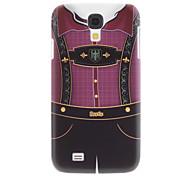 Matt Design Pattern Suspender Pant Robuste Hülle für das Samsung Galaxy i9500 S4