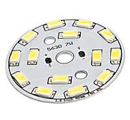 7W 14x5630SMD Natural White Light Aluminium Basis LED Emitter (22-24V)