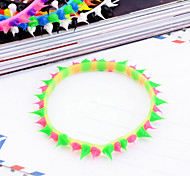 Korean Individuality Candy Color Chuzzle Silica Gel Bracelet Color Random