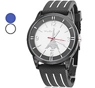 Unisex Wrist Style Analog Silicone Quartz Casual Watch (Assorted Colors)
