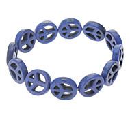 Bohemia Peace Sign Of Dark Blue Turquoise Bracelets