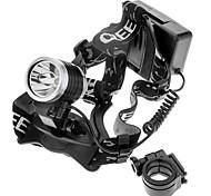 6331 3-Mode Cree XP-E Q5 LED Headlamp(200LM, 2x18650, Black)