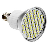 E14 4W 60x3528SMD 200-240LM 6000-6500K Natural de la luz blanca LED del bulbo del punto (85-265V)