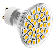 GU10 5W 30x5050SMD 300-360LM 3000-3500K Warm White LED Light Bulb Spot (85-265V)