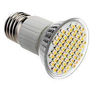E27 4W 60x3528SMD 180-240LM 3000-3500K Warm White Light LED-Spot-Lampe (85-265V)