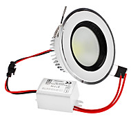 Dimmable 3W 1-210LM 6000-6500K Natural White Light COB LED Ceiling Bulb (220V)