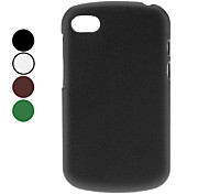 Solid Color Litchi Pattern PC Hard Case for BlackBerry Q10 (Assorted Colors)