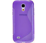 S-förmig ausgebildet TPU Soft Case für Samsung Galaxy S4 Mini I9190 (verschiedene Farben)