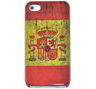 Vintage Spain Flag Pattern Hard Case for iPhone 4/4S