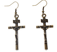 Drop Earrings Cross,Jewelry Alloy Party / Daily