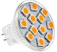 GU4 1 W 12 SMD 5050 70 LM Warm White MR11 Spot Lights DC 12 V