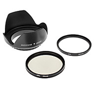 Insten UV + CPL 58mm + бленда объектива для CANON S3IS S5 G7 G9 G10 S2 IS
