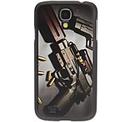 Gun and Bullets Pattern Hard Case for Samsung Galaxy S4 I9500