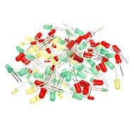 3 millimetri e 5 millimetri diodo a emissione luminosa - Verde + Rosso + Giallo (100-Piece)