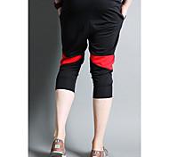Men's Shorts , Casual Print Cotton Blend