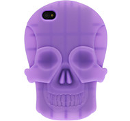 3D Solid Color Skull Silicone Soft Protective Case for iPhone 4/4S (Optional Colors)