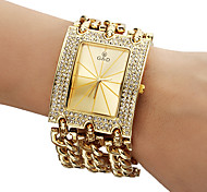 Damen Modeuhr Quartz Band Glanz Gold Marke-