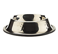 Stainless Steel Dog Paws Pattern Bowl for Pets Dogs (10x10x3.5cm)