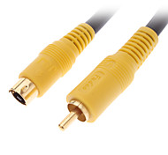 JSJ® 10M 32.8FT S-Video Male to RCA Male Cable Black for Home Theater Video DVD