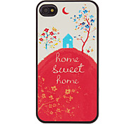 Sweet Home in Fairy Tale Pattern PC Hard Case for iPhone 4