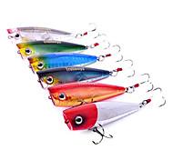 Trulinoya-Hard Mini Bait Popper 60mm/7g Water Surface Fishing Lure (Random Color)